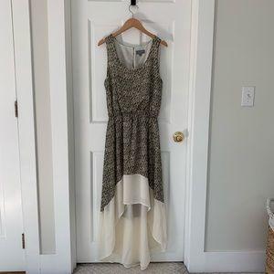 SIB High-Low Sleeveless Dress, Snakeskin Print, L